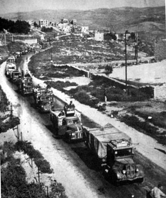 Castel National Park - Convoy on its way to Jerusalem, 1948