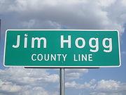 Jim Hogg County, TX, sign IMG 3362