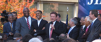 Jim Webb - Then Senator Barack Obama, former Governors Doug Wilder, Mark Warner, and Governor Tim Kaine campaign for Jim Webb