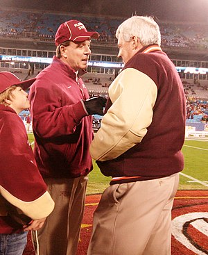 Jimbo Fisher - Jimbo Fisher (left) and Frank Beamer (right) at the 2010 ACC Championship Game.
