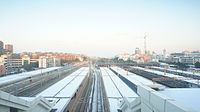 Jinhua Railway Station in snow.JPG