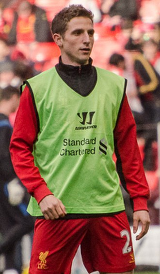 Joe Allen - Allen warming up for Liverpool in 2012