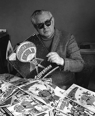 Joe Shuster - Shuster in a DC Comics press photo, 1975