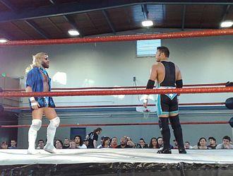 Scott Lost - Lost (right) with regular tag team partner Joey Ryan in 2008.
