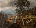 Johan Christian Dahl - Mountain Landscape with a Birch Tree - Fjell-landskap - KODE Art Museums and Composer Homes - BB.M.00409.jpg
