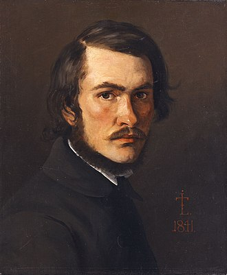 Johan Thomas Lundbye - Self-portrait, Ny Carlsberg Glyptotek (1841)
