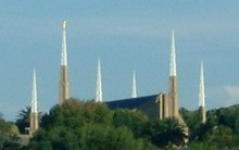 The Johannesburg South Africa Temple seen from a distance
