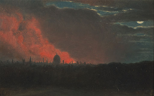 John Constable - Fire in London, Seen from Hampstead - Google Art Project