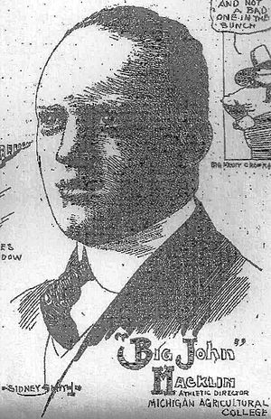 "John Macklin - ""Big John"" Macklin, as depicted in the Chicago Daily Tribune, Nov. 30, 1915"