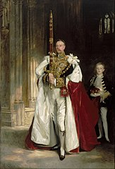 Charles Stewart, Sixth Marquess of Londonderry, Carrying the Great Sword of State at the Coronation of King Edward VII, August, 1902, and Mr. W. C. Beaumont, His Page on That Occasion