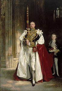 John Singer Sargent - Charles Stewart, Sixth Marquess of Londonderry, Carrying the Great Sword of State at the Coronation ... - Google Art Project.jpg