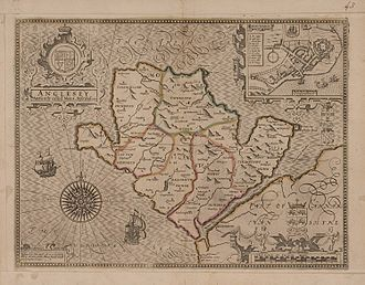 Anglesey - John Speed's map of Anglesey, 1607