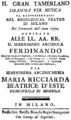 Josef Mysliveček - Il gran Tamerlano - titlepage of the libretto - Milan 1771.png