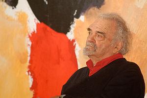 Josep Guinovart - Josep Guinovart in the Catalonia's History Museum, 2007.