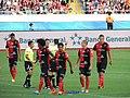 Jugadores de Alajuelense 90 Minutos por la Vida 2015.jpg