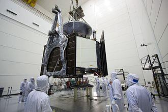 Microwave Radiometer (Juno) - Image: Juno Gets Fueled