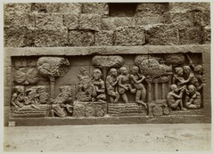 KITLV 28031 - Kassian Céphas - Relief of the hidden base of Borobudur - 1890-1891.tif