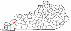 Location of Fredonia, Kentucky