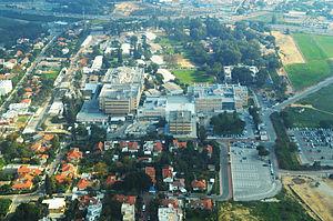 Kaplan Medical Center - Aerial view of the Kaplan Medical Center