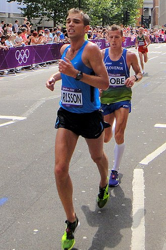Iceland at the 2012 Summer Olympics - Kári Steinn Karlsson (left) finished forty-second in men's marathon.