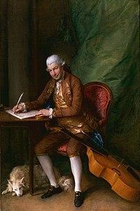 Portrait of Carl Friedrich Abel by Thomas Gainsborough, 1777 (Source: Wikimedia)
