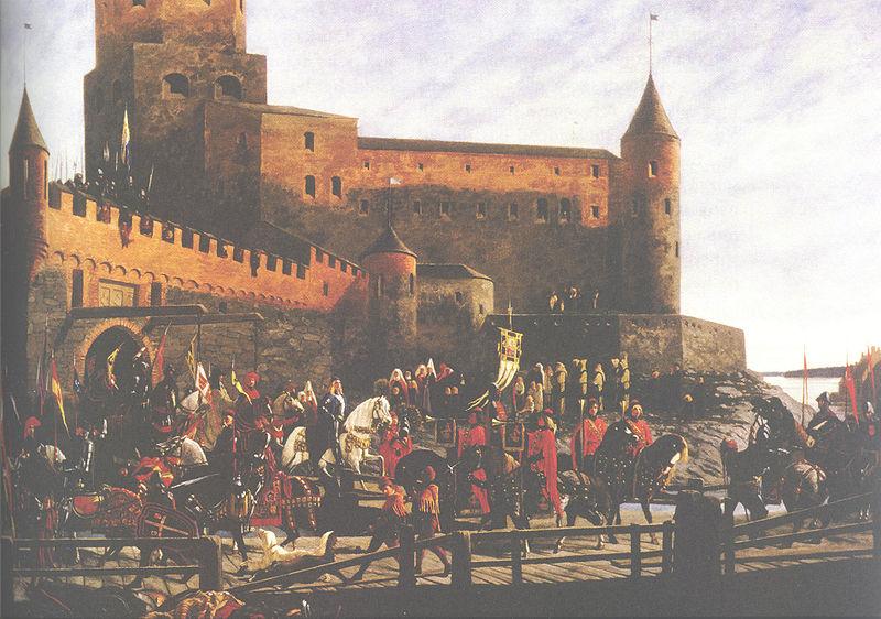 Tiedosto:Karl Knutsson Bonde Viborgs slott kungaval Severin Falkman 001.jpg