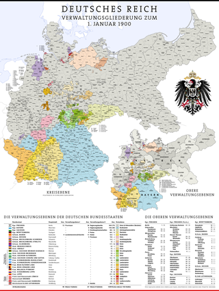 Administrative Map of the German Empire as of January 1st, 1900