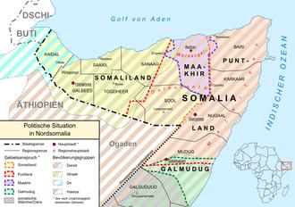 Karte Somaliland
