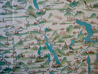 Cartography of Switzerland - Image: Karte Türst
