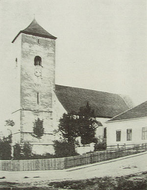 Church of Holy Trinity, Mošovce - The Original gothic church in around 1910.