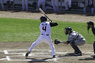 Kevin Pillar - Pillar with the Lansing Lugnuts in 2012.