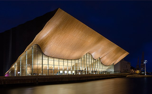 Kilden Performing Arts Center. Photo by Knut Arne Gjertsen.
