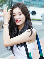 Kim Do-yeon on the way at 'The Show' in August 16, 2016 (1).jpg