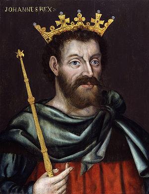 Royal badges of England - Image: King John from NPG