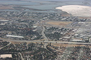 California State Route 262 - Aerial photo of Route 262 from the east