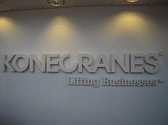 Konecranes - The slogan of Konecranes: Lifting businesses