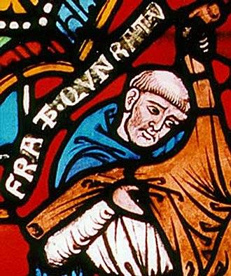 Konrad von Marburg - Konrad von Marburg, detail of a 13th-century church window, Elisabeth Church, Marburg.