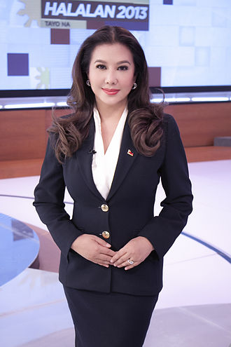 TV Patrol - Korina Sanchez at ABS-CBN studio in 2013
