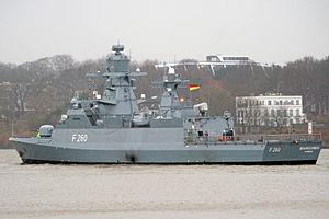 Braunschweig-class corvette - Image: Korvette Braunschweig F260 2981