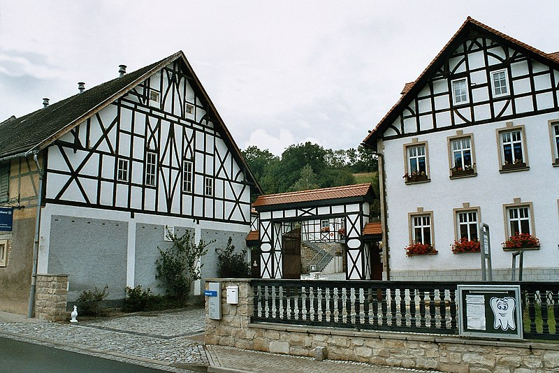 File:Kraftsdorf, half-timber framed houses-1.jpg