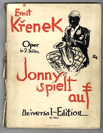 Ernst Krenek - Jonny spielt auf, the title page of the 1926 vocal score (1st edition)