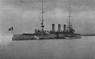 Ottoman cruiser Hamidiye - Ottoman cruiser Hamidiye in 1913.