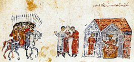 Krum gathers his people The Chronikon of Ioannis Skylitzes..jpg