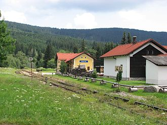 Czech rail records - Kubova Huť, the highest railway station