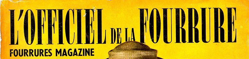 File:L'Officiel de la Fourrure, front-page of a French furriers journal 1954-02.jpg