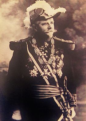 French rear-admiral Louis Dartige du Fournet, dressed in ceremonial military costume, 1910
