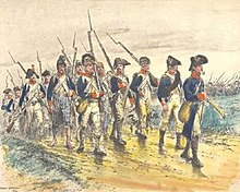 illustration of soldiers from the Army of Sambre and Meuse
