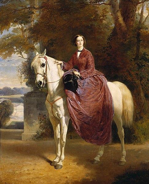 File:L'impératrice Eugénie à cheval - 1856 - Charles Édouard Boutibonne.jpg