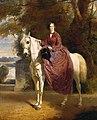 L'impératrice Eugénie à cheval - 1856 - Charles Édouard Boutibonne.jpg