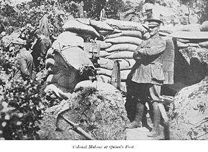 William George Malone - Colonel Malone at Quinn's Post, 1915